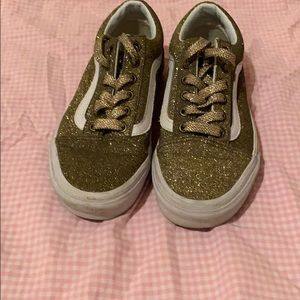 Barely worn sparkly gold vans